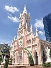 歴史的建造物 ピンクのかわいいダナン大聖堂 | Danang de 観光 | ダナンスタイル || ダナンが好き Danang.Style